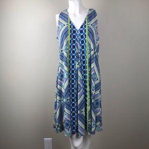 Gabby Skye Full Figured Geometric Print Dress 10